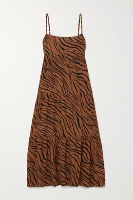 Faithfull The Brand Net Sustain Corvina Tiger-print Crepe Midi Dress