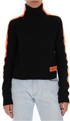 Heron Preston Turtleneck Side Striped Sweater