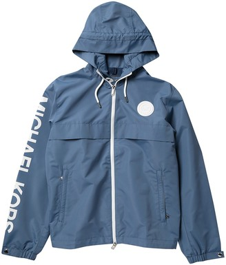 Michael Kors Logo Zip Up Windbreaker