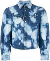 DSQUARED2 bleached pattern denim shirt - women - Cotton/Spandex/Elastane - 40