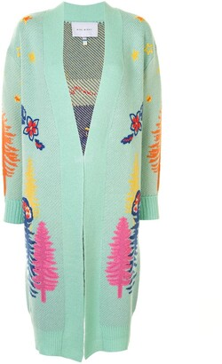 Mira Mikati Embroidered Open-Front Cardigan