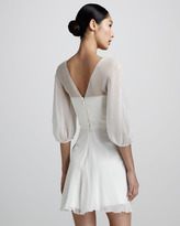 Pamella Roland Sheer Chiffon Cocktail Dress