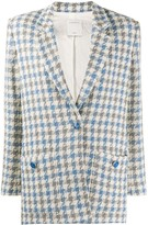 Sandro Paris Caliana houndstooth tweed blazer