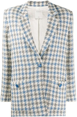 Sandro Paris Caliana houndstooth tweed blazer