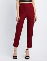 Charlotte Russe High-Waisted Skinny Trousers
