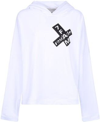 7 For All Mankind Classic Logo Print Hoodie