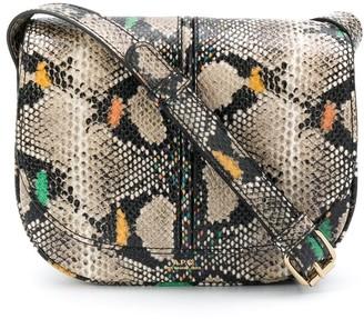 A.P.C. Betty snake-effect saddle bag