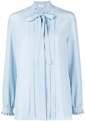 Etro Ruffle-Trim Pleated Shirt