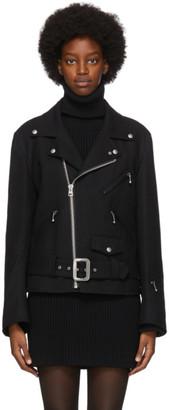 Junya Watanabe Black Wool Biker Jacket