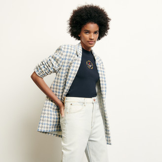 Sandro Tailored jacket in houndstooth tweed