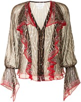 Thumbnail for your product : Camilla Pirate Punk-print silk blouse