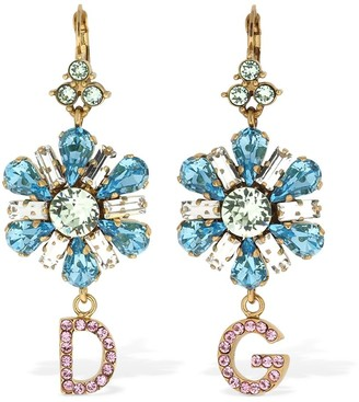 Dolce & Gabbana Blooming Flower Crystal Earrings