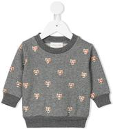 Simple leopard print sweatshirt - kids - Cotton/Polyester - 18 mth