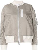 Sacai flight bomber jacket - women - Cotton/Nylon/Polyester/Cupro - 3