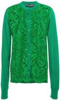 Dolce & Gabbana Corded Lace-paneled Silk-blend Cardigan