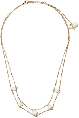 Yoko London 18kt yellow gold Trend freshwater pearl and diamond choker necklace