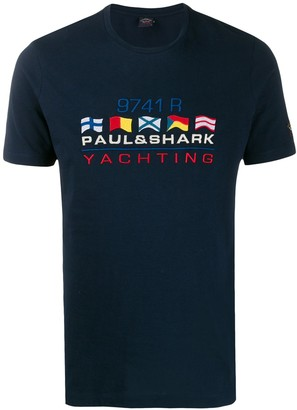 Paul & Shark embroidered flag T-shirt