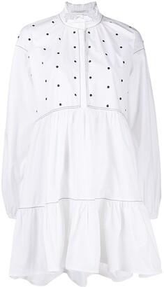 Philosophy di Lorenzo Serafini Studded Ruffle Neck Shirt Dress