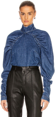 Rotate by Birger Christensen Kim Top in Medium Blue | FWRD