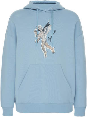 Givenchy Printed Cotton-Jersey Hooded Sweatshirt Size: S