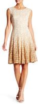 Chetta B Sleeveless Lace Fit & Flare Dress