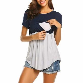 Armilum Maternity Women Nursing Tops Women Pregnant Maternity Nursing Breastfeeding Top T-Shirt Blouse Clothes