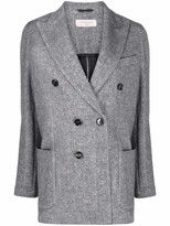 Thumbnail for your product : Circolo 1901 Peak-Lapels Double-Breasted Blazer
