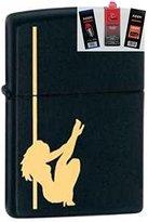 Zippo 24892 Stripper & Pole Black Lighter + Fuel Flint & Wick Gift Set