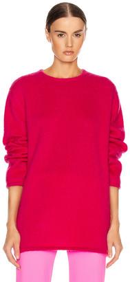 Vetements Open Back Knit Sweater in Raspberry | FWRD