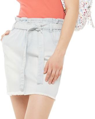 So Juniors' Paperbag Denim Skirt