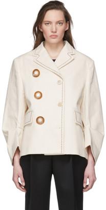 Miu Miu Off-White Double Breasted Jacket
