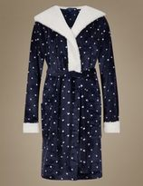 Marks and Spencer Star Print Hooded Dressing Gown