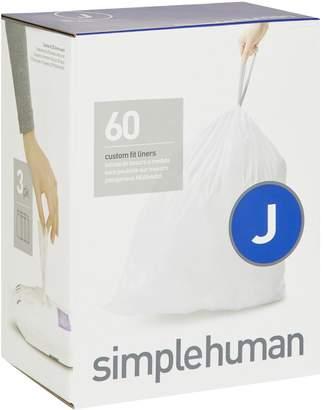 Simplehuman Code J Bin Liners (60 Liners)