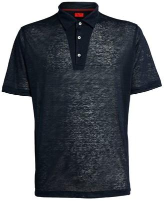 Isaia Linen Polo Shirt
