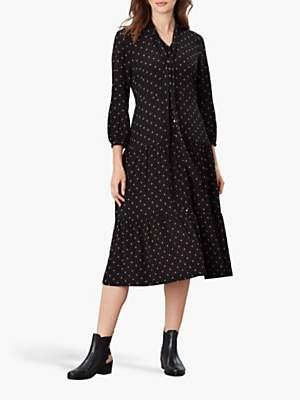 Joules Josie Star Print Shirt Dress, Tan Star