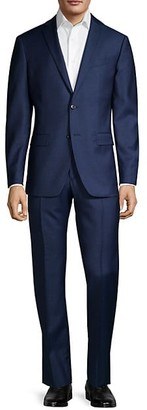 John Varvatos Standard-Fit Micro-Check Wool Suit