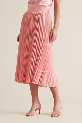 Seed Heritage Midi Length Pleat Skirt