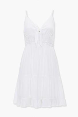 Forever 21 Ruffle-Trim Mini Dress