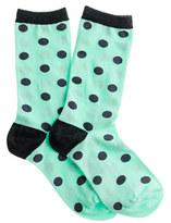 J.Crew Polka-dot trouser socks