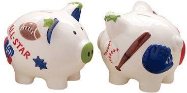 Mud Pie Sports Piggy Bank