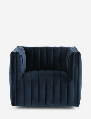 Lulu & Georgia Roz Swivel Chair, Sapphire Navy