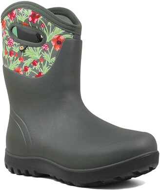 Bogs Neo Classic Mid Vine Floral Waterproof Rain Boot