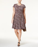 MICHAEL Michael Kors Size Brooks Fit & Flare Dress