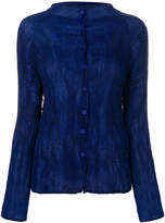 Issey Miyake pleated button down blouse
