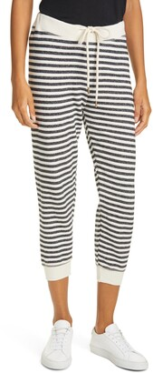 The Great The Cropped Stripe Sweatpants
