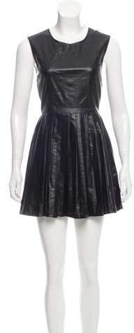 Shakuhachi Vegan Leather Mini Dress w/ Tags