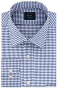 Arrow Men's Classic/Regular-Fit Non-Iron Performance Stretch Check Dress Shirt