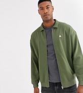 Asos Design DESIGN Tall oversized jersey harrington jacket with triangle