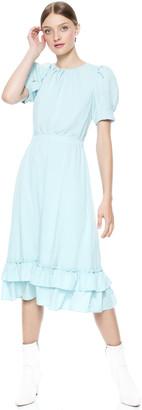 Alice + Olivia Vida Puff Sleeve Midi Dress