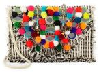 Antik Batik Pom-Pom Embellished Shoulder Bag